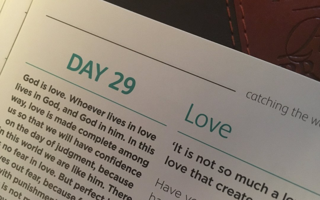 Love – reflections from Sue Chastney | Day 29 | catching the wave | Focus on 40