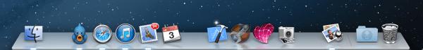 Mac OS X タッチスクリーン 搭載
