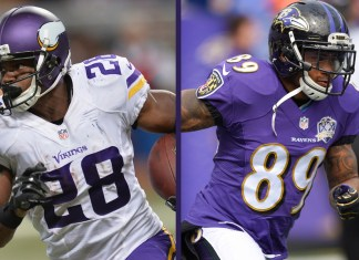 Adrian Peterson e Steve Smith Sr.