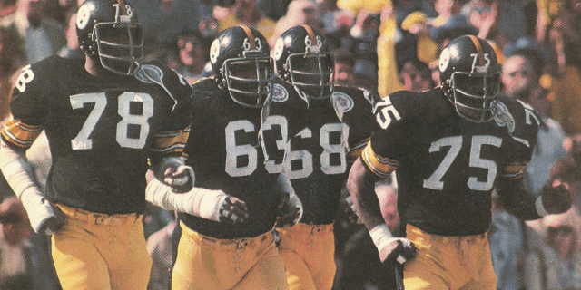 "Steel Curtain - Dwight White, Ernie Holmes, L. C. Greenwood e ""Mean Joe"" Greene"
