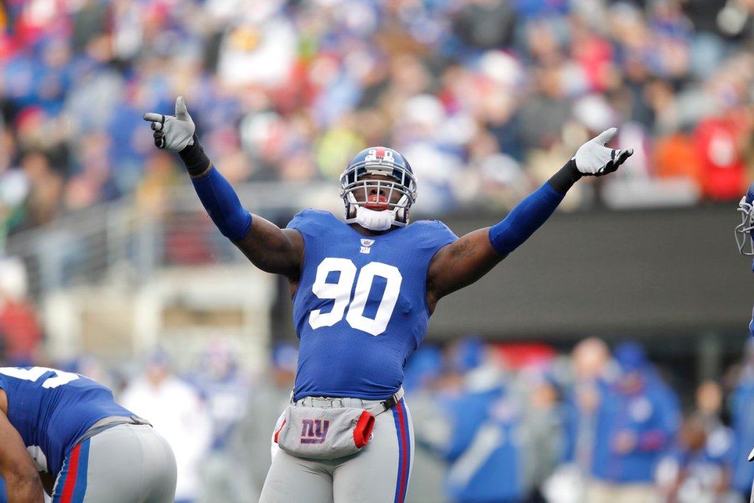 New York Giants aplica franchise tag em Jason Pierre-Paul