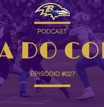 Alex Collins doutrinando no jogo entre Ravens e Lions