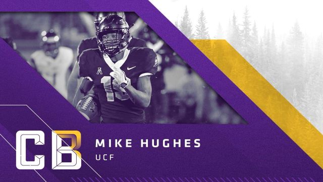 Cornerback Mike Hughes, UCF, escolha do Vikings