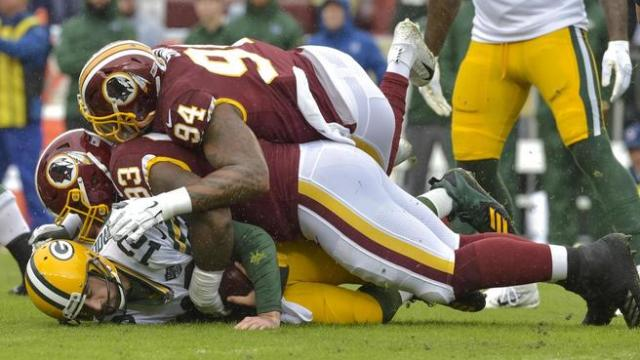 Washington Redskins 31 vs 17 Green Bay Packers