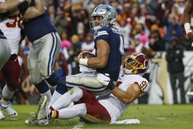 Washington Redskins 20 vs 17 Dallas Cowboys