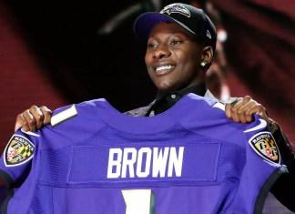 Marquise Brown novo WR do Baltimore Ravens