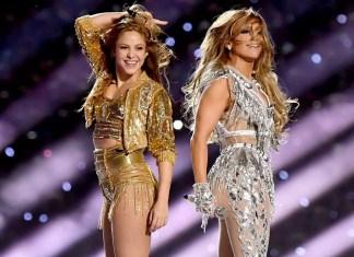 Shakira e Jennifer Lopez no Show do Intervalo