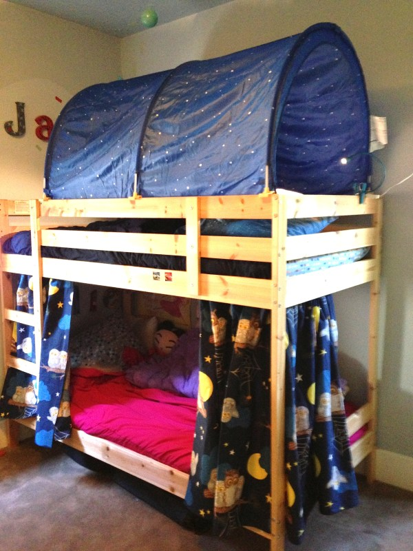 Bunk Bed Fort Curtains