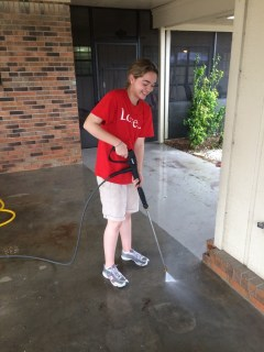 starting our pressure cleaning