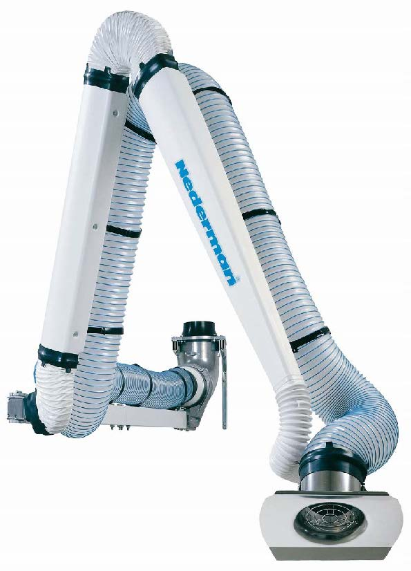 NEX-D/DX Laboratory Extractor Arms for Dust and Fumes