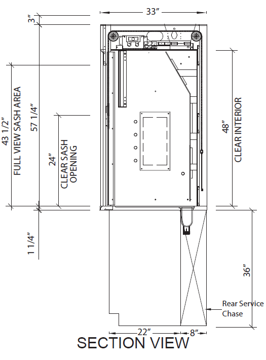 Isolator Bench Top Fume Hoods Diagram