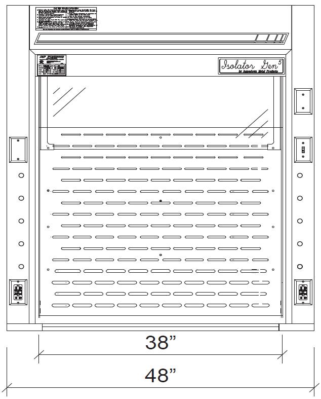 Isolator BenchIsolator Bench Top Fume Hoods Top Fume Hoods 4 ft diagram