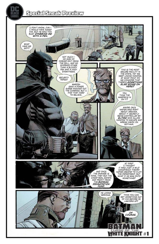 Batman: Curse of the White Knight #1, anteprima 05