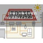 【実録】太陽光発電の自家消費はどれぐらい?