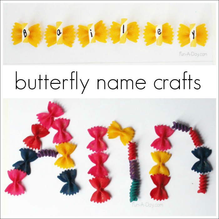 Name Activities With A Butterfly Craft Fun A Day