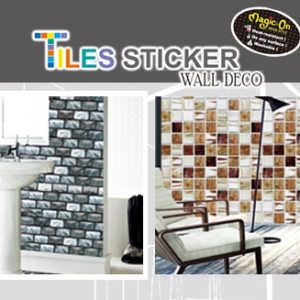 Patent Ink Tiles Stickers