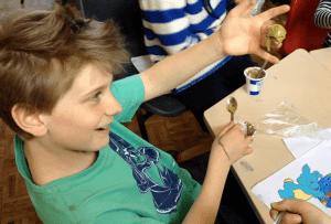 Slime making at Fun Science holiday club Bath