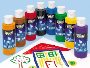 Liquid water colours