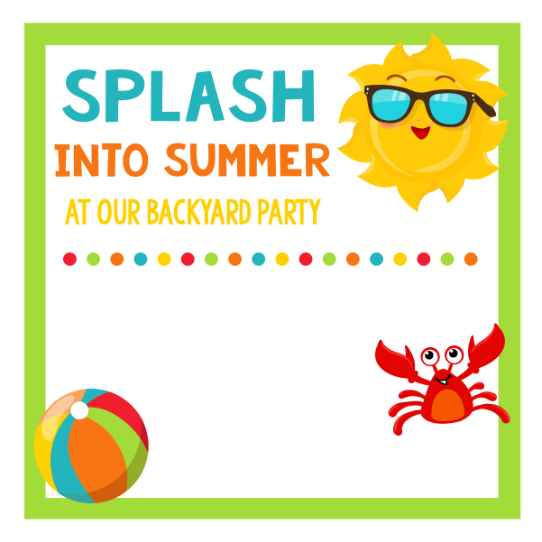 Free Printable Summer Party Invitations