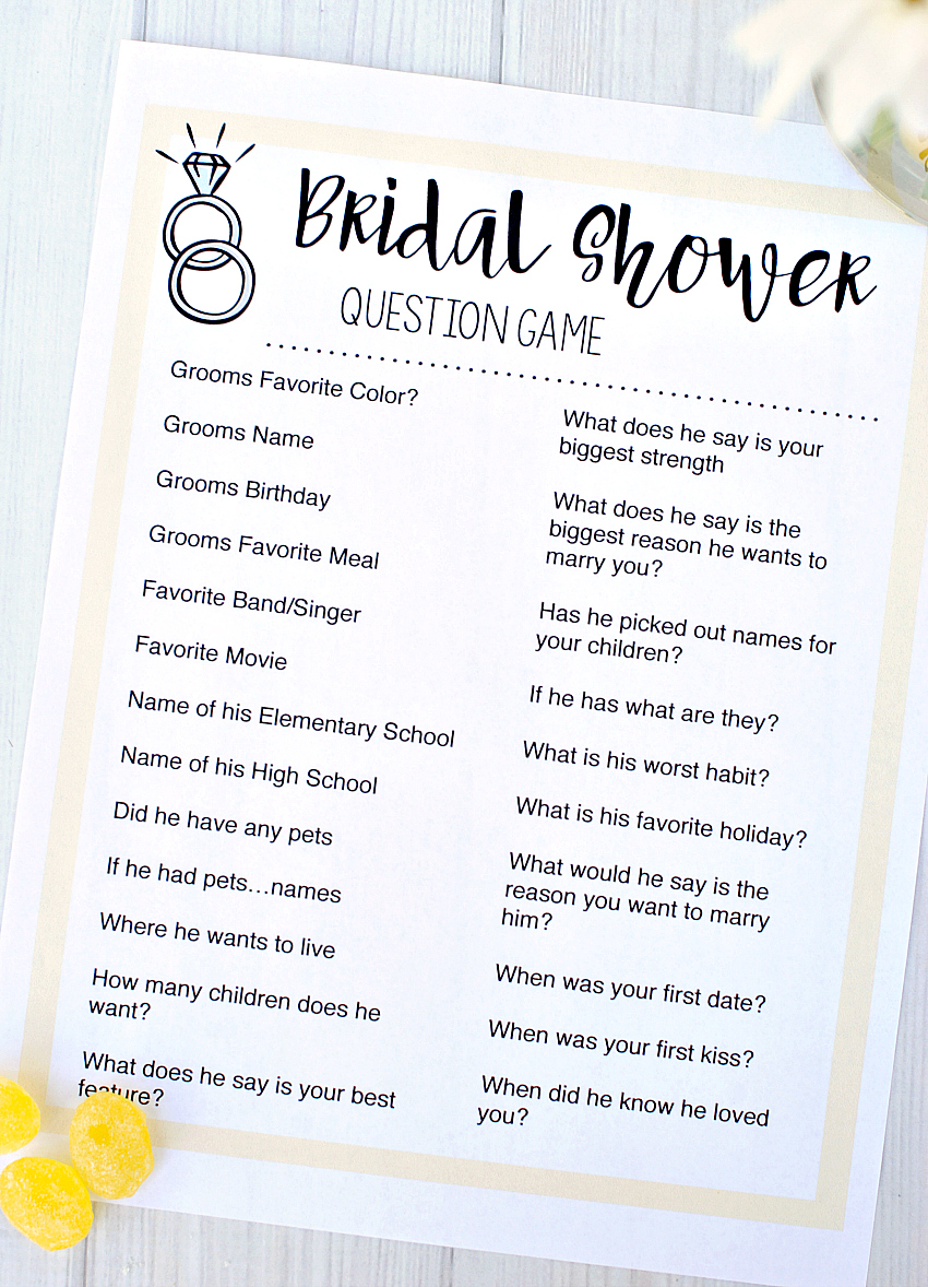 Free Printable Bridal Shower Games  FunSquared