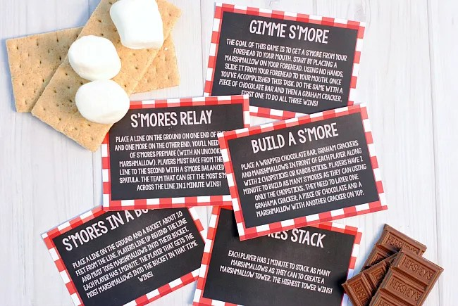 BBQ Party Game -S'mores Minute to Win It Games