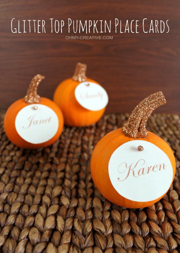 Glitter-Top-Pumpkin-Place-Cards-OHMY-CREATIVE.COM_