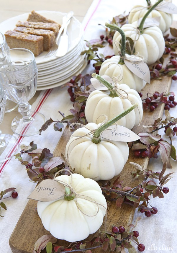 Pumpkin Table Settings