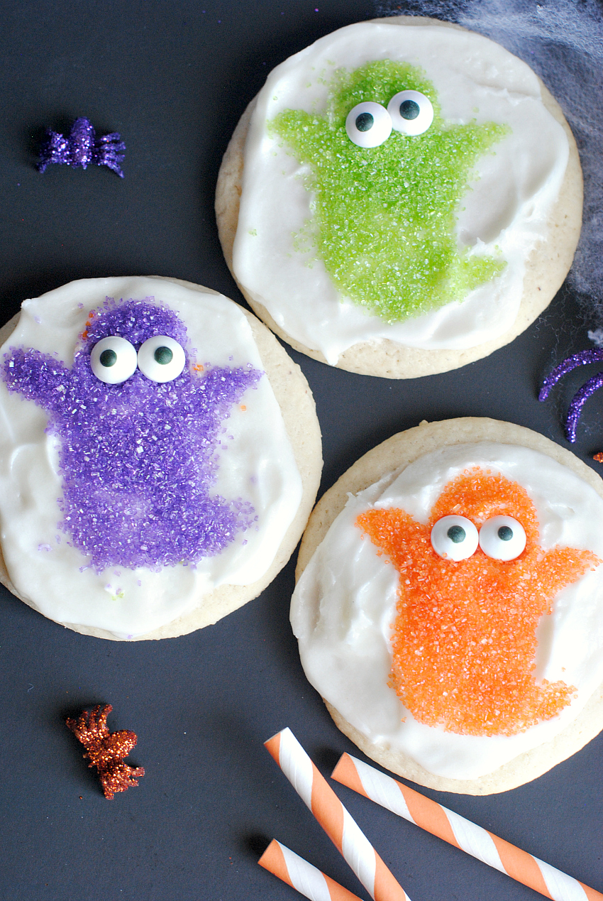 Easy Halloween Cookies Cute Ghosts and Witches  FunSquared