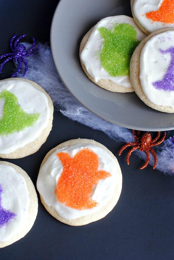 Cute Halloween Sprinkle Cookies