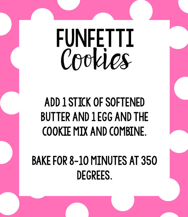 Funfetti Cookie Mix Recipe and Instructions