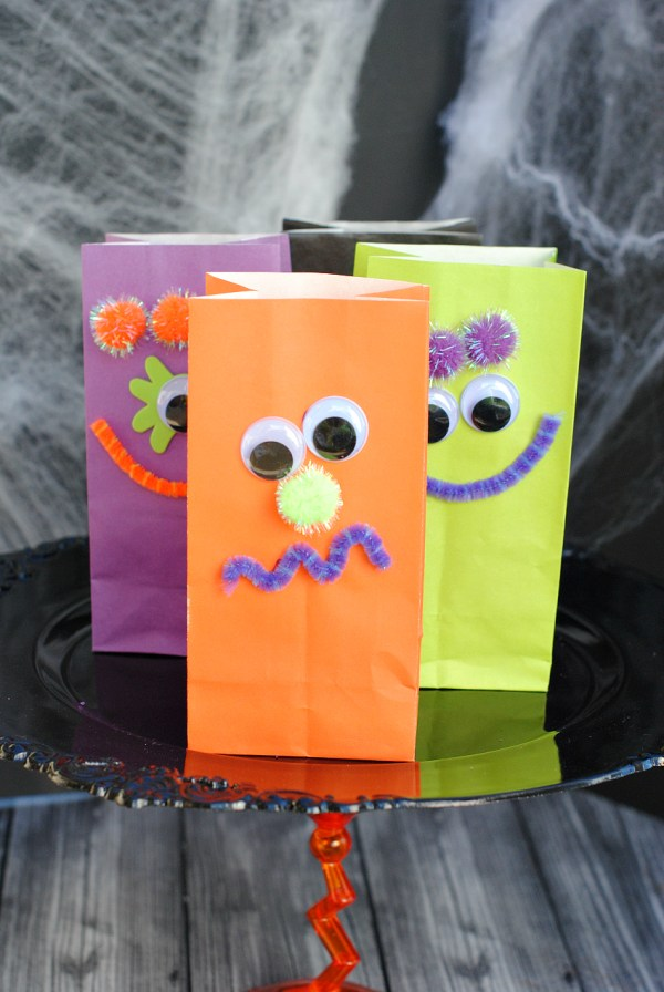 Monster Treat Bags Kids Craft for Party