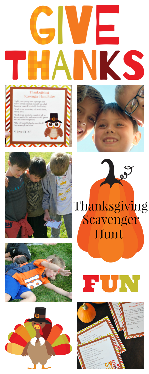 Thanksgiving Family Games to Play-Thanksgiving Scavenger Hunt. This is such a fun way to spend family time on Thanksgiving. Fun for the whole family. #Thanksgivingfun #scavengerhunt #funfamiliygame #familytime #thanksgivinggames