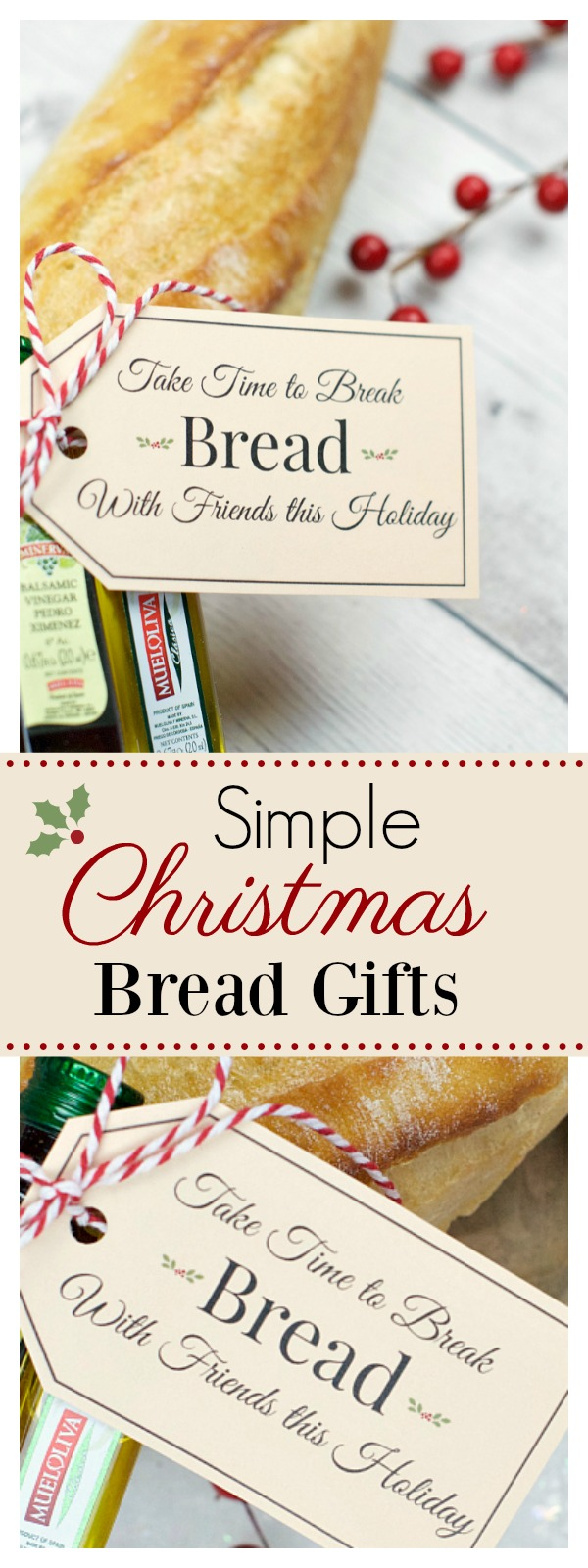 Bread Gift Idea for Christmas-Great for Neighbors and Friends
