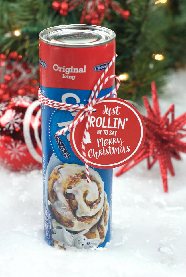 Christmas Cinnamon Rolls.Punny Neighbor Gift Idea Cinnamon Rolls Fun Squared