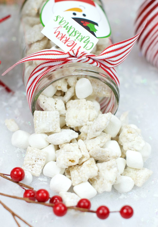 Snowman Christmas Muddy Buddies