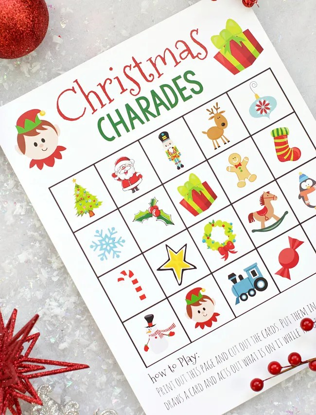 Free Printable Christmas Charades Game