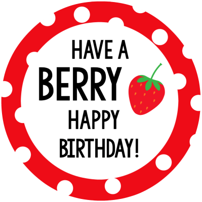 Berry Happy Birthday Tag