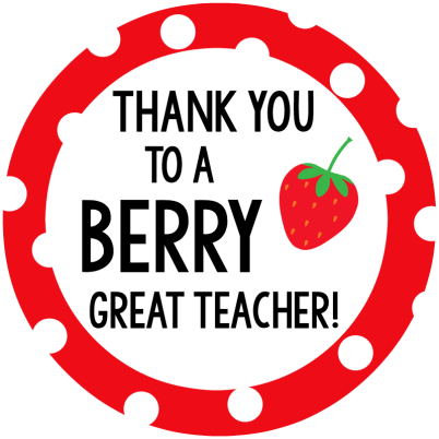 Berry Teacher Gift Tag