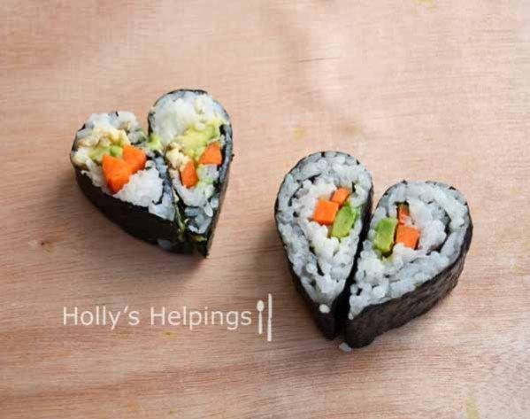 Heart Shaped Sushi
