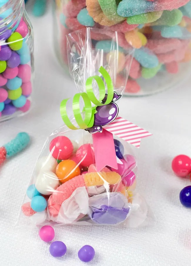 Candy Birthday Party Favors