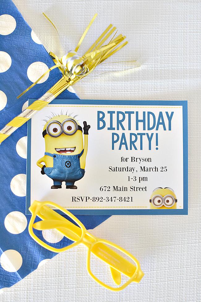 Free Printable Minion Birthday Invitations