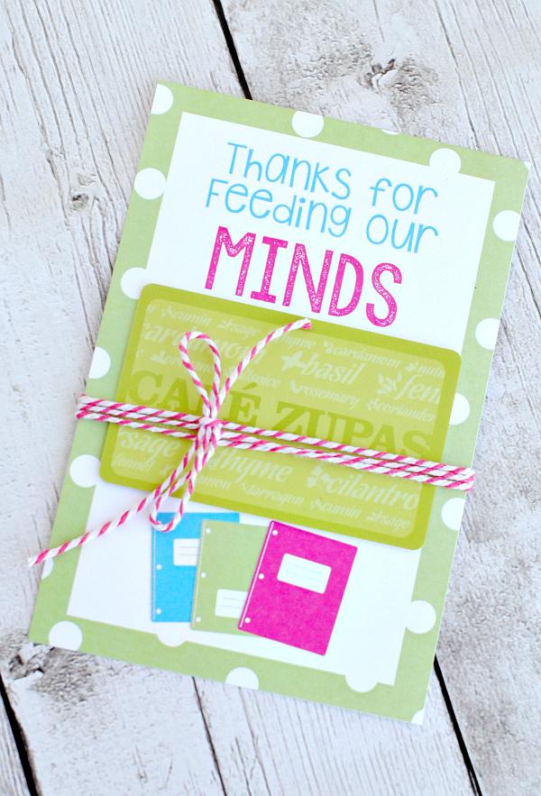 Printable Gift Card Holders for Teachers
