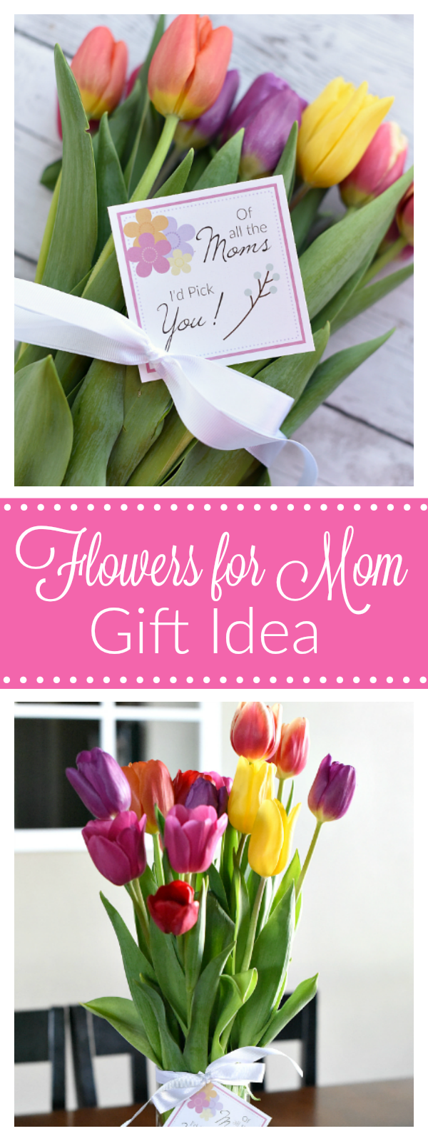 Mother's Day Flowers Gift Tag-Great Mother's Day Gift Idea