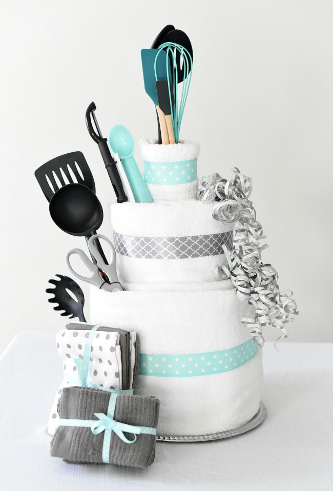 Bridal Shower Gift IdeaTowel Cake  FunSquared