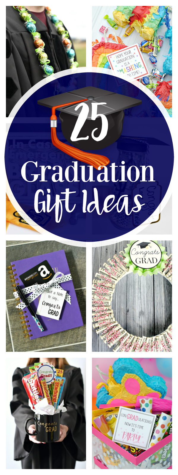 25 Fun and Unique Graduation Gifts to Give to Your Grad This Year! Great gifts for grads of all ages. #graduation #gradgifts #graduationideas #graduationgifts