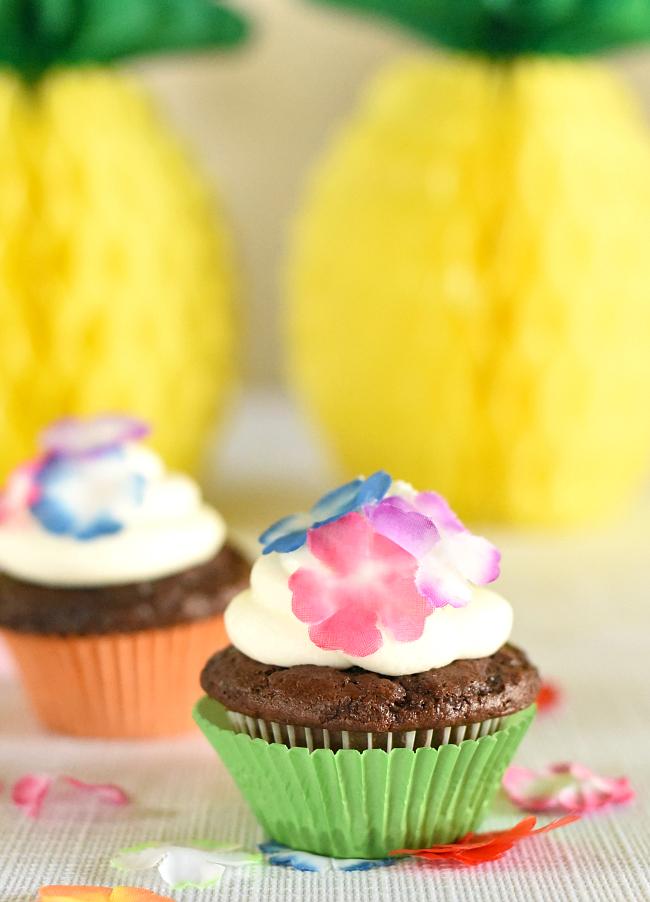 Hawaiian Party Food-Cupcake Ideas and Recipe
