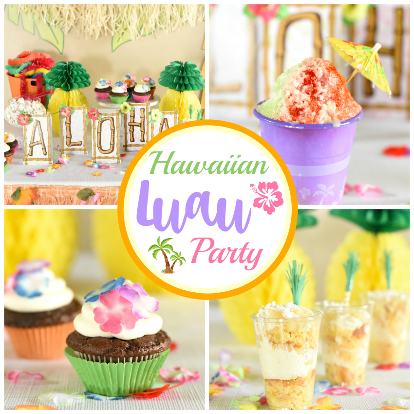 Pool Party Party Favor Bags 12 for Luau Hawaiian Beach Bags
