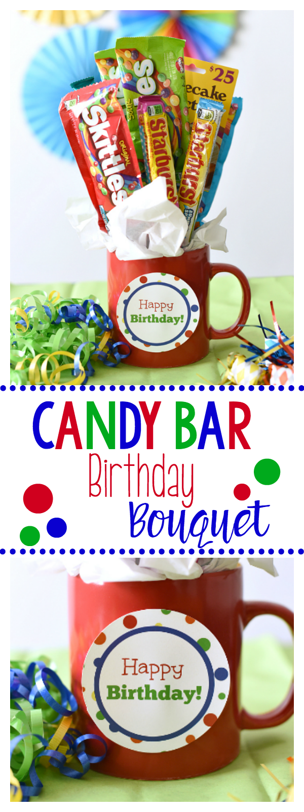 Candy Bar Bouquet-Great Birthday Gift Idea for Friends