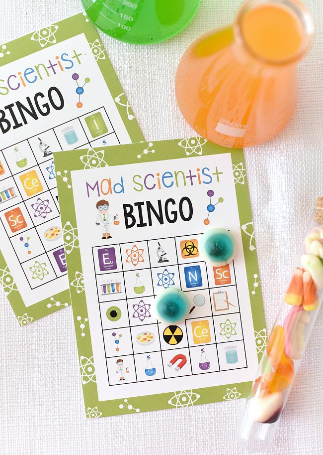 Mad Scientist Bingo Party Game