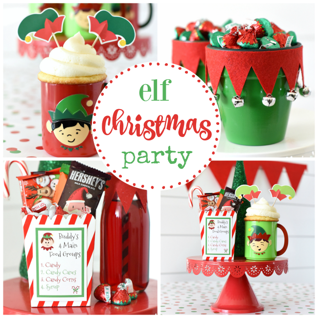 Christmas Party Ideas.Elf Themed Christmas Party Fun Squared